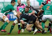 3 November 2018;  Marty Moore of Ulster is tackled by Irbe Herbst of Benetton during the Guinness PRO14 Round 8 match between Benetton and Ulster at Stadio Monigo in Treviso, Italy. Photo by Roberto Bregani/Sportsfile