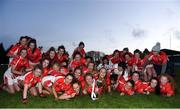3 November 2018; Kilkerrin-Clonberne players celebrate with the cup after the 2018 Connacht Ladies Senior Club Football Final match between Carnacon and Kilkerrin-Clonberne at Ballyhaunis GAA Club in Mayo. Photo by Eóin Noonan/Sportsfile