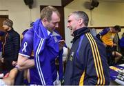 3 November 2018; Tipperary manager Liam Sheedy with Lar Corbett  before the Benefit Match between Tipperary and Kilkenny at Bishop Quinlan Park in Tipperary. Photo by Matt Browne/Sportsfile