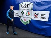 3 November 2018; Ireland head coach Joe Schmidt prior to the International Rugby match between Ireland and Italy at Soldier Field in Chicago, USA. Photo by Brendan Moran/Sportsfile