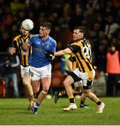 3 November 2018; Michael McKernan of Coalisland Fianna in action against Callum Cumiskey of Crossmaglen Rangers during the AIB Ulster GAA Football Senior Club Championship quarter-final match between Crossmaglen Rangers and Coalisland Fianna GFC at the Athletic Grounds in Armagh. Photo by Oliver McVeigh/Sportsfile