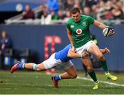 3 November 2018; Jacob Stockdale of Ireland is tackled by Giulio Bisegni of Italy during the International Rugby match between Ireland and Italy at Soldier Field in Chicago, USA. Photo by Brendan Moran/Sportsfile