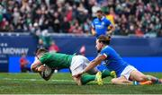3 November 2018; Luke McGrath of Ireland scores his side's second try during the International Rugby match between Ireland and Italy at Soldier Field in Chicago, USA. Photo by Brendan Moran/Sportsfile