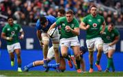3 November 2018; Jordan Larmour of Ireland makes a break to set up his side's second try, scored by team-mate Luke McGrath, during the International Rugby match between Ireland and Italy at Soldier Field in Chicago, USA. Photo by Brendan Moran/Sportsfile