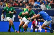 3 November 2018; Jordan Larmour of Ireland is tackled by Luca Bigi of Italy during the International Rugby match between Ireland and Italy at Soldier Field in Chicago, USA. Photo by Brendan Moran/Sportsfile