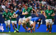 3 November 2018; Jordan Larmour of Ireland makes a break during the International Rugby match between Ireland and Italy at Soldier Field in Chicago, USA. Photo by Brendan Moran/Sportsfile