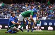3 November 2018; Tadhg Beirne of Ireland goes over to score his side's third try during the International Rugby match between Ireland and Italy at Soldier Field in Chicago, USA. Photo by Brendan Moran/Sportsfile