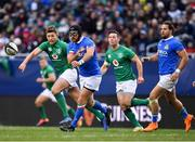 3 November 2018; Ian McKinley of Italy in action against Ross Byrne, left, and John Cooney of Ireland during the International Rugby match between Ireland and Italy at Soldier Field in Chicago, USA. Photo by Brendan Moran/Sportsfile