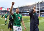 3 November 2018; Jack Conan, left, and Tadhg Beirne of Ireland following the International Rugby match between Ireland and Italy at Soldier Field in Chicago, USA. Photo by Brendan Moran/Sportsfile