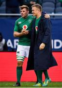 3 November 2018; Jordi Murphy, left, and Josh van der Flier of Ireland after the International Rugby match between Ireland and Italy at Soldier Field in Chicago, USA. Photo by Brendan Moran/Sportsfile