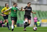 4 November 2018; Kylie Murphy of Wexford Youths in action against Eleanor Ryan-Doyle of Peamount United during the Continental Tyres FAI Women's Senior Cup Final match between Peamount United and Wexford Youths Women FC at the Aviva Stadium in Dublin. Photo by Ramsey Cardy/Sportsfile