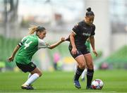 4 November 2018; Rianna Jarrett of Wexford Youths in action against Louise Corrigan of Peamount United during the Continental Tyres FAI Women's Senior Cup Final match between Peamount United and Wexford Youths Women FC at the Aviva Stadium in Dublin. Photo by Ramsey Cardy/Sportsfile
