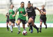 4 November 2018; Louise Corrigan of Peamount United in action against Rianna Jarrett of Wexford Youths during the Continental Tyres FAI Women's Senior Cup Final match between Peamount United and Wexford Youths Women FC at the Aviva Stadium in Dublin. Photo by Ramsey Cardy/Sportsfile