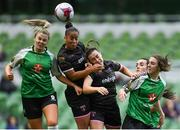 4 November 2018; Rianna Jarrett, left, and Orlaith Conlon of Wexford Youths in action against Chloe Moloney of Peamount United during the Continental Tyres FAI Women's Senior Cup Final match between Peamount United and Wexford Youths Women FC at the Aviva Stadium in Dublin. Photo by Ramsey Cardy/Sportsfile