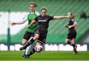 4 November 2018; Edel Kennedy of Wexford Youths in action against Karen Duggan of Peamount United during the Continental Tyres FAI Women's Senior Cup Final match between Peamount United and Wexford Youths Women FC at the Aviva Stadium in Dublin. Photo by Eóin Noonan/Sportsfile