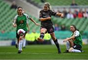 4 November 2018; Katrina Parrock of Wexford Youths scores her side's first goal during the Continental Tyres FAI Women's Senior Cup Final match between Peamount United and Wexford Youths Women FC at the Aviva Stadium in Dublin. Photo by Ramsey Cardy/Sportsfile