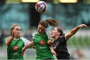 4 November 2018; Edel Kennedy of Wexford Youths in action against Karen Duggan of Peamount United during the Continental Tyres FAI Women's Senior Cup Final match between Peamount United and Wexford Youths Women FC at the Aviva Stadium in Dublin. Photo by Ramsey Cardy/Sportsfile