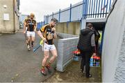 4 November 2018; Ballyea captain Tony Kelly leads his team out before the AIB Munster GAA Hurling Senior Club Championship semi-final match between Ballyea and Ballygunner at Walsh Park in Waterford. Photo by Matt Browne/Sportsfile