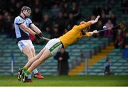 4 November 2018; Kevin Downes of Na Piarsaigh shoots to score his side's first goal under pressure from Clonoulty / Rossmore goalkeeper Declan O'Dwyer during the AIB Munster GAA Hurling Senior Club Championship semi-final match between Na Piarsaigh and Clonoulty / Rossmore at the Gaelic Grounds in Limerick. Photo by Piaras Ó Mídheach/Sportsfile