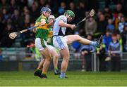 4 November 2018; Shane Dowling of Na Piarsaigh in action against John O'Keeffe of Clonoulty / Rossmore during the AIB Munster GAA Hurling Senior Club Championship semi-final match between Na Piarsaigh and Clonoulty / Rossmore at the Gaelic Grounds in Limerick. Photo by Piaras Ó Mídheach/Sportsfile