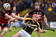 4 November 2018; Niall Deasy of Ballyea in action against Mikey Mahony,left, and Shane O'Sullivan of Ballygunner during the AIB Munster GAA Hurling Senior Club Championship semi-final match between Ballyea and Ballygunner at Walsh Park in Waterford. Photo by Matt Browne/Sportsfile