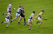 4 November 2018; Conor Hammersley of Clonoulty / Rossmore gets away from Na Piarsaigh players, from left, Kevin Ryan, Gordon Brown, Cathal King and Conor Boylan, as referee Diarmuid Kirwan looks on, during the AIB Munster GAA Hurling Senior Club Championship semi-final match between Na Piarsaigh and Clonoulty / Rossmore at the Gaelic Grounds in Limerick. Photo by Piaras Ó Mídheach/Sportsfile