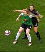 4 November 2018; Amber Barrett of Peamount United in action against Aisling Frawley of Wexford Youths during the Continental Tyres FAI Women's Senior Cup Final match between Peamount United and Wexford Youths Women FC at the Aviva Stadium in Dublin. Photo by Brendan Moran/Sportsfile