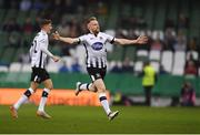 4 November 2018; Sean Hoare of Dundalk celebrates after scoring his side's first goal during the Irish Daily Mail FAI Cup Final match between Cork City and Dundalk at the Aviva Stadium in Dublin. Photo by Eóin Noonan/Sportsfile