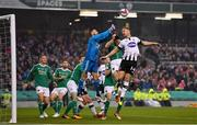 4 November 2018; Dane Massey of Dundalk in action against Mark McNulty of Cork City during the Irish Daily Mail FAI Cup Final match between Cork City and Dundalk at the Aviva Stadium in Dublin. Photo by Ramsey Cardy/Sportsfile