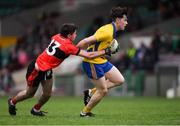 4 November 2018; Tom Barron of The Nire gets past Mark Connolly of Adare during the AIB Munster GAA Football Senior Club Championship quarter-final match between Adare and The Nire at the Gaelic Grounds in Limerick. Photo by Piaras Ó Mídheach/Sportsfile