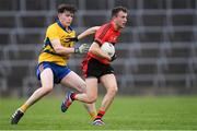 4 November 2018; Davy Lyons of Adare in action against Tom Barron of The Nire during the AIB Munster GAA Football Senior Club Championship quarter-final match between Adare and The Nire at the Gaelic Grounds in Limerick. Photo by Piaras Ó Mídheach/Sportsfile
