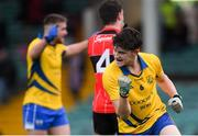 4 November 2018; Tom Barron of The Nire celebrates scoring his side's first goal during the AIB Munster GAA Football Senior Club Championship quarter-final match between Adare and The Nire at the Gaelic Grounds in Limerick. Photo by Piaras Ó Mídheach/Sportsfile