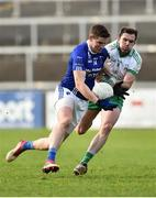 4 November 2018; Darren Hughes of Scotstown in action against Declan Rooney of Burren during the AIB Ulster GAA Football Senior Club Championship quarter-final match between Burren and Scotstown at Páirc Esler in Newry, Down. Photo by Oliver McVeigh/Sportsfile