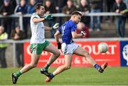 4 November 2018; Conor McCarthy of Scotstown in action against Declan Rooney of Burren during the AIB Ulster GAA Football Senior Club Championship quarter-final match between Burren and Scotstown at Páirc Esler in Newry, Down. Photo by Oliver McVeigh/Sportsfile