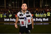 4 November 2018; Patrick Hoban of Dundalk celebrates following the Irish Daily Mail FAI Cup Final match between Cork City and Dundalk at the Aviva Stadium in Dublin. Photo by Ramsey Cardy/Sportsfile