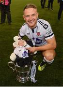 4 November 2018; Dane Massey of Dundalk with daughter Georgia following the Irish Daily Mail FAI Cup Final match between Cork City and Dundalk at the Aviva Stadium in Dublin. Photo by Ramsey Cardy/Sportsfile