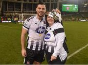 4 November 2018; Patrick Hoban of Dundalk with his mother Sue after the Irish Daily Mail FAI Cup Final match between Cork City and Dundalk at the Aviva Stadium in Dublin. Photo by Eóin Noonan/Sportsfile