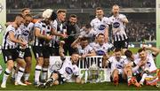 4 November 2018; The Dundalk team celebrate following the Irish Daily Mail FAI Cup Final match between Cork City and Dundalk at the Aviva Stadium in Dublin. Photo by Ramsey Cardy/Sportsfile