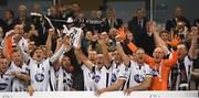4 November 2018; Dundalk players lift the trophy following their victory in the Irish Daily Mail FAI Cup Final match between Cork City and Dundalk at the Aviva Stadium in Dublin. Photo by Ramsey Cardy/Sportsfile