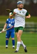 3 November 2018; Jack Sheridan of Ireland during the U21 Hurling Shinty International 2018 match between Ireland and Scotland at Games Development Centre in Abbotstown, Dublin. Photo by Piaras Ó Mídheach/Sportsfile