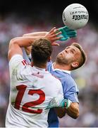 "Hand-to-hand combat. Jonny Cooper is fighting the good fight for the Dublin cause while he and Kieran McGeary get up close and personal.    This image may be reproduced free of charge when used in conjunction with a review of the book ""A Season of Sundays 2018"". All other usage © SPORTSFILE"