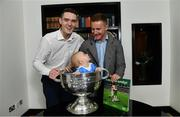 5 November 2018;  In attendance at the launch of A Season of Sundays 2018 at The Croke Park in Dublin is 10 month old Rian Cuddihy, from Harold's Cross, Dublin, grandson of Sportsfile photographer Ray McManus, with Dublin footballers Brian Fenton, left, and Ciarán Kilkenny. Photo by Ramsey Cardy/Sportsfile
