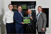 5 November 2018;  In attendance at the launch of A Season of Sundays 2018 at The Croke Park in Dublin are, from left, Dublin footballer Brian Fenton, Uachtarán Chumann Lúthchleas Gael John Horan, John Comerford, Chief Operations Officer, Carrolls of Tullamore, and Dublin footballer Ciarán Kilkenny. Photo by Ramsey Cardy/Sportsfile