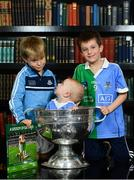 5 November 2018;  In attendance at the launch of A Season of Sundays 2018 at The Croke Park in Dublin is 10 month old Rian Cuddihy, centre, from Harold's Cross, Dublin, grandson of Sportsfile photographer Ray McManus, 6 year old Patrick, left, and 8 year old Joe McNamara, from Harold's Cross, Dublin. Photo by Ramsey Cardy/Sportsfile