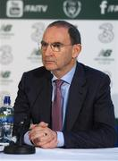 6 November 2018; Republic of Ireland manager Martin O'Neill during a Republic of Ireland Squad Announcement at SSE Airtricity HQ, in Leopardstown, Dublin.  Photo by Piaras Ó Mídheach/Sportsfile