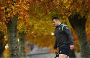 6 November 2018; Cian Healy arrives for Ireland rugby squad training at Carton House in Maynooth, Co. Kildare. Photo by Ramsey Cardy/Sportsfile