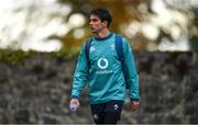 6 November 2018; Joey Carbery arrives for Ireland rugby squad training at Carton House in Maynooth, Co. Kildare. Photo by Ramsey Cardy/Sportsfile