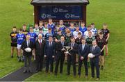 6 November 2018; In attendance at the Leinster GAA Top Oil Post Primary Football Launch, are from left, Trevor O'Reilly CEO Sirio, Ger Conway, Depot manager Kildare, Matt Byrne, Top Oil BDM, Gerard Boylan, Top Oil CEO, Andrew Meagher, Head of Sales, Direct & Reseller Top Oil, James Fitzgerald, Top Oil Regional Manager, and Des Halpenny, Post Primary Committee Chairman, at Naas Racecourse in Naas, Co. Kildare. Photo by Piaras Ó Mídheach/Sportsfile