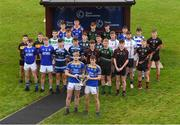 6 November 2018; Liam Broderick, left, and Jack Hamill, of 2017 champions Naas CBS, with fellow post primary players during a Leinster GAA Top Oil Post Primary Football Launch at Naas Racecourse in Naas, Co. Kildare. Photo by Piaras Ó Mídheach/Sportsfile