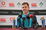 6 November 2018; Will Addison during an Ireland rugby press conference at Carton House in Maynooth, Co. Kildare. Photo by Ramsey Cardy/Sportsfile